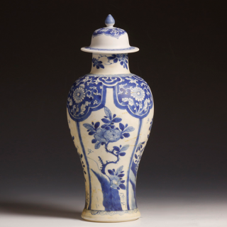 Chinese shipwreck blue and white Meiping vase