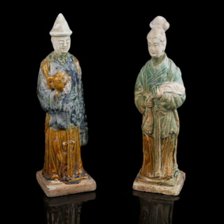 A pair of Ming Dynasty attendants