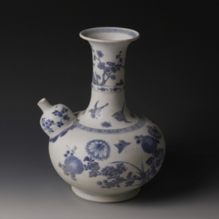 Chinese Kangxi Blue and White Wine Pitcher