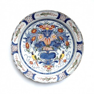 English delftware charger c.1740