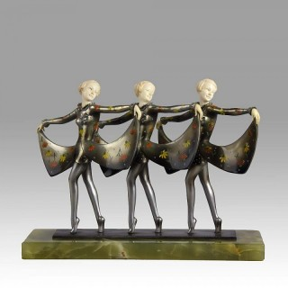 Rare Art Deco Sculpture 'Les Girls'