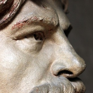 An Exceptional French Patinated Terracotta Portrait Bust of A Gentleman, Probably that of Jean-Baptiste Carpeaux (1827–1875), By Maximilien-Henri Hiolle (1843-1934), Dated to 1896