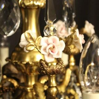 French Bronze Cherub Antique Chandelier