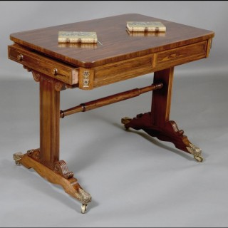 An attractive Regency rosewood ladies writing table