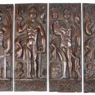 English walnut panels of Virtues