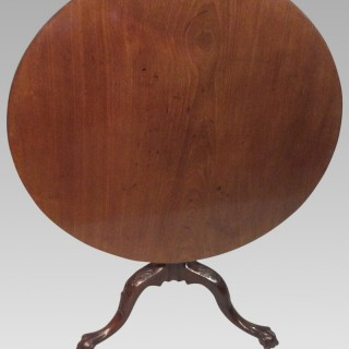 Irish mahogany tripod table