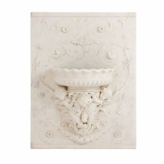 Large Italian Carrara marble rectangular relief panel