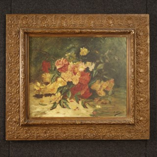 19th Century French Signed Still Life Painting With Frame