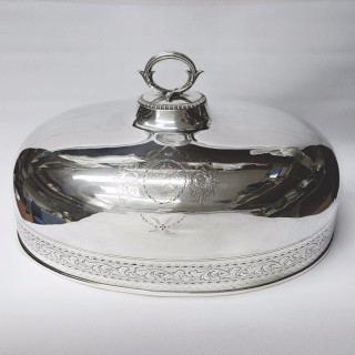Antique Silver Plated Meat Domes