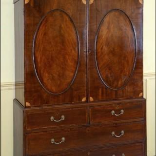 Gentleman's mahogany clothes Press