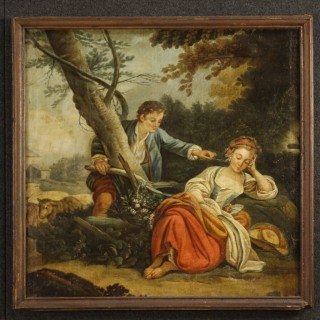 19th Century French Romantic Scene Painting