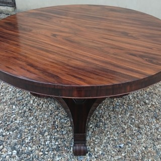 Very Fine Quality 19th Century William IV Conçalo Alves Breakfast Table / Centre Table