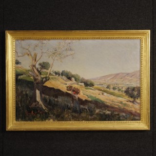19th Century Italian Landscape Painting Signed And Dated 1899