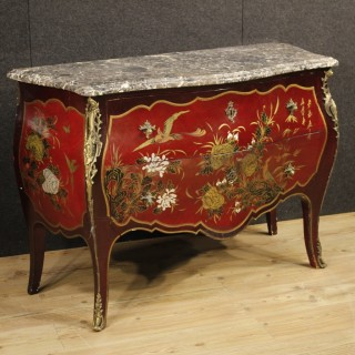 20th Century French Lacquered Chinoiserie Dresser