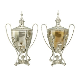Mappin & Co Silver Plated Urns