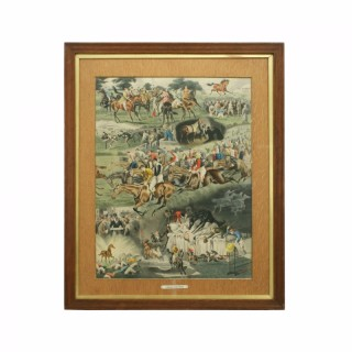 Horses Racing Print, A Racing Nightmare, Alfred Charles Havell.