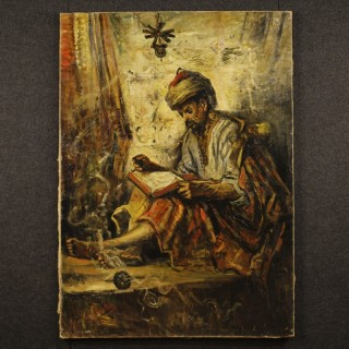 19th Century Orientalist Signed Painting Oil On Canvas