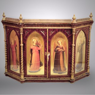 An Italian Renaissance Revival Painted Table Cabinet