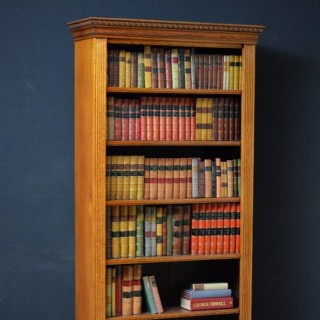 Early XXth Century Solid Oak Open Bookcase