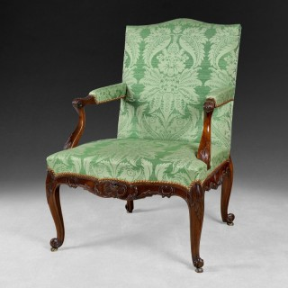 Chippendale period Mahogany Gainsborough Armchair