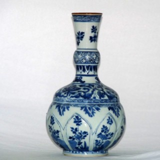 Kangxi Blue and White Bottle Vase