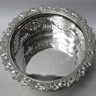 Antique Silver Plated Wine Coaster