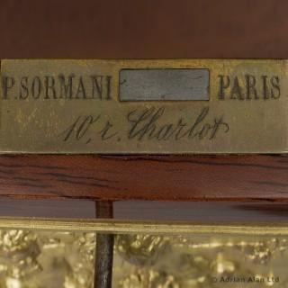 Pair of Louis XVI Style Gilt-Bronze Mounted Vitrines de Milieu
