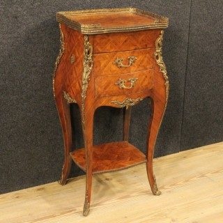 20th Century French Night Stand With Bronzes