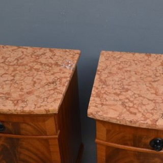 Pair of Flamed Mahogany Bedside Cabinets