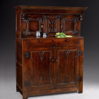 Late 17th century carved Oak Court Cupboard