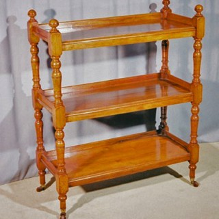 William IV Period turned Walnut Etagere