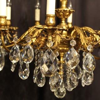 Italian Gilded 10 Light Antique Chandelier