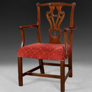 Chippendale Period Mahogany Elbow Chair