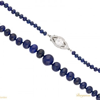 Cartier sapphire and diamond necklace, American, circa 1925.