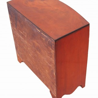 Antique Miniature Bowfront Chest Of Drawers