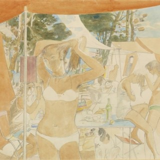 La Toilette by John Ward RA (1917-2007)