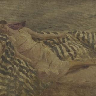 On the Divan by Bernard Sickert NEAC (1863 – 1932)