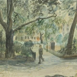 London Garden Square by Leon Underwood