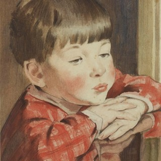 Portrait of a Young Boy by Bernard Fleetwood-Walker RA RWS PPRBSA (1893-1965)