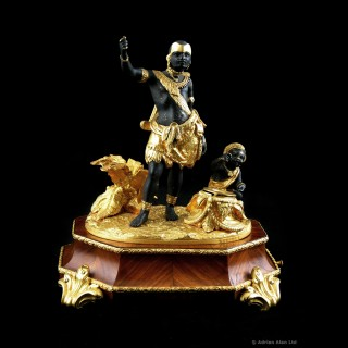 Louis-Philippe Gilt-Bronze and Patinated Bronze Inkwell