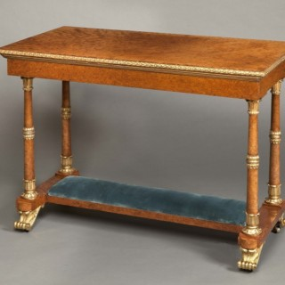 English Table Made for Windsor Castle and Commanded by George IV