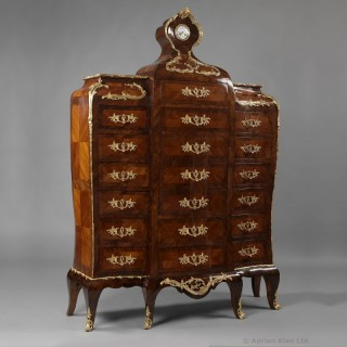 Louis XV Style Secrétaire en Chiffonnier