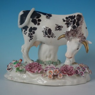 Staffordshire Porcellaneous cow spill vase
