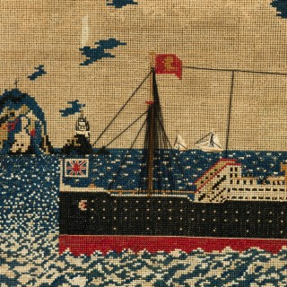 Woolwork picture of the liner RMS LUSITANIA