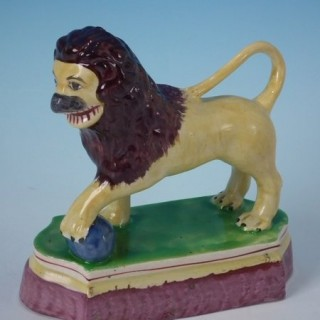 Staffordshire Pearlware Performing Lion