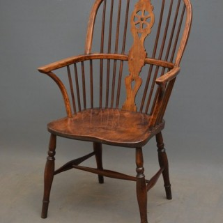 Early Victorian Ash and Elm Windsor Chair