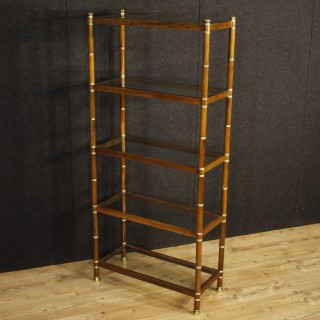 20th Century Spanish Design Bookcase In Wood
