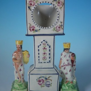 Staffordshire Pearlware Pottery Clock Watch Holder