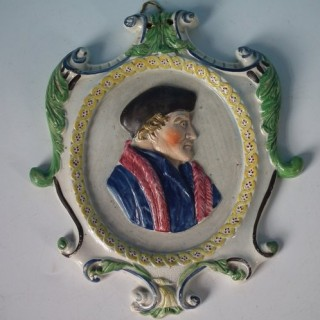 Staffordshire Pearlware Sir Thomas Moore Wall Plaque