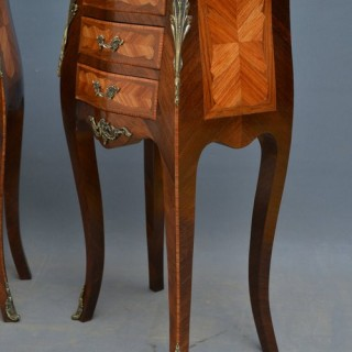 Pair of Bedside Cabinets in Rosewood and Tulipwood